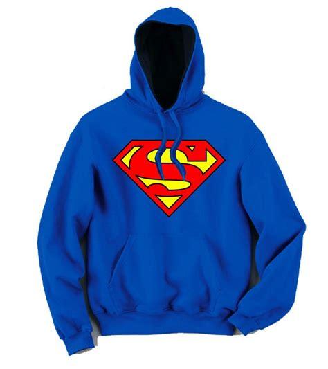 Jaket Supreme Superman Blue superman classical big s logo pullover hoodie superman tshirtsky