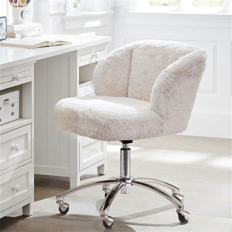 white faux fur desk chair faux fur desk chair best home design 2018