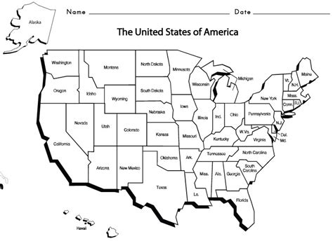 usa map states practice usa states 1 homeschool geography social