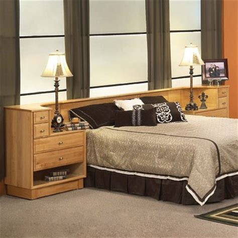 Headboard With Attached Nightstands by Oak Land Furniture 6 77 810 Denmark Headboard With