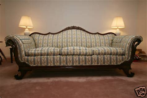 duncan phyfe sofa price duncan phyfe gooseneck sofa antique price guide details