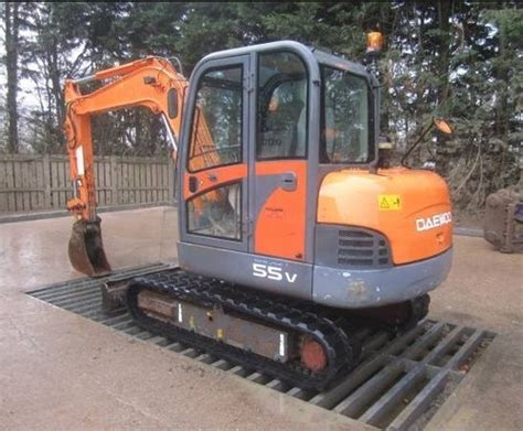 doosan daewoo solar 55 v excavator workshop service repair
