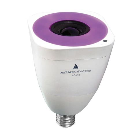 color changing light bulb home depot awox striimlight 40w equivalent wi fi color changing led