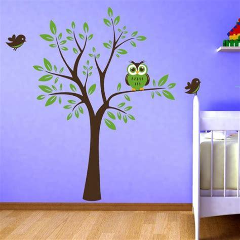 Wandtattoo Kinderzimmer Baum by Baum Mit Eule Wandtattoo Www Wohngenuss De
