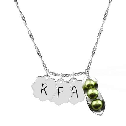 Two Peas In A Pod Jewelry - peas in a pod necklace