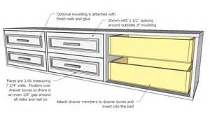 woodwork bed plans drawers underneath pdf plans