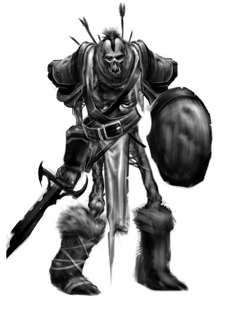 Undead Orc Art - World of Warcraft: Wrath of the Lich King