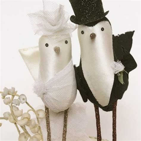 Handmade Wedding Cake Toppers - diy and customisable wedding cake toppers chic vintage