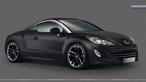 peugeot rcz black 2010 peugeot rcz asphalt black color front view wallpaper