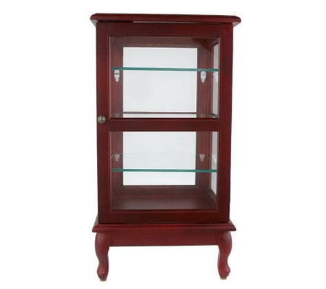 table top curio cabinet pacconi table top curio cabinet w glass
