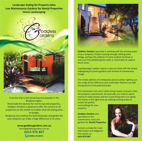 flyer design brisbane goddess gardens dl flyer brisbane design housedesign