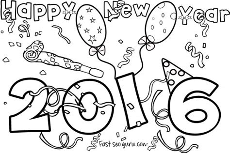2016 new years eve coloring pages happy new year 2016 coloring pages for kids printable