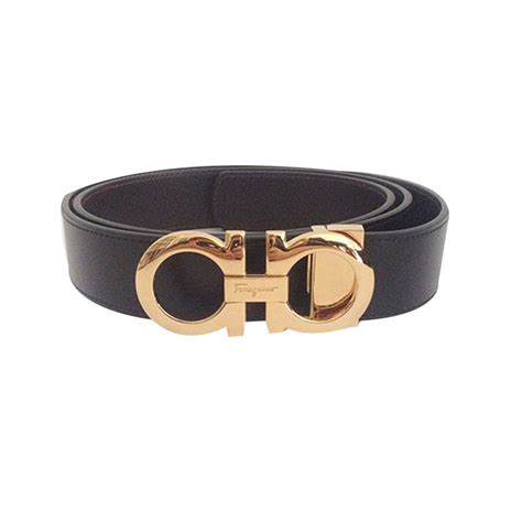 Ferragamo Salvatore salvatore ferragamo s belt belts leather black ref