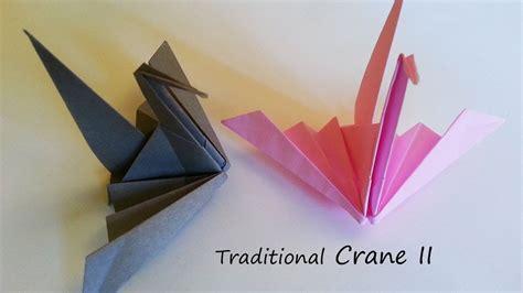 3d origami crane tutorial traditional origami crane ii tutorial crane origami