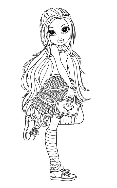 moxie girlz coloring pages coloring kids
