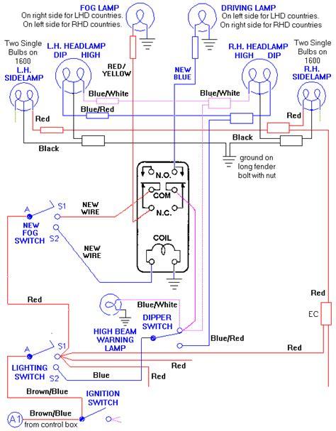 highbeam wiring diagram standard