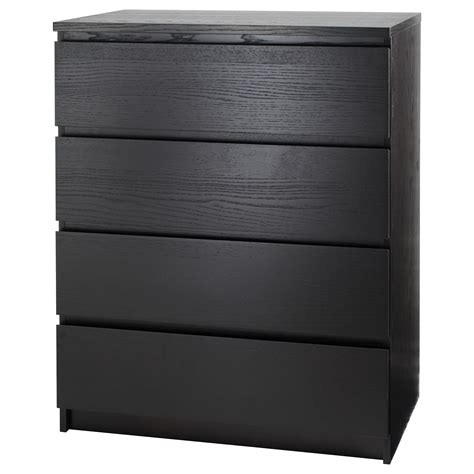 Black Brown Chest Of Drawers Malm Chest Of 4 Drawers Black Brown 80x100 Cm Ikea