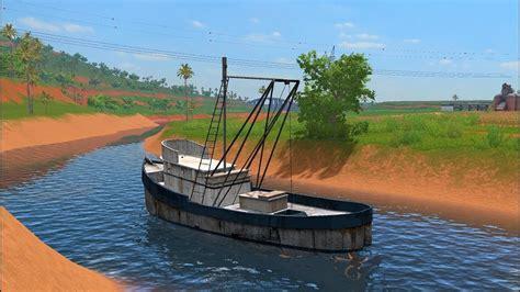 farming simulator boat videos farming simulator 17 mods fishing boat for pc mac youtube