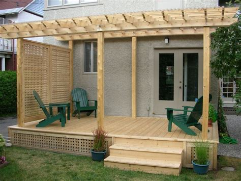 pergola privacy screen deck and pergola with side screen gives total privacy from