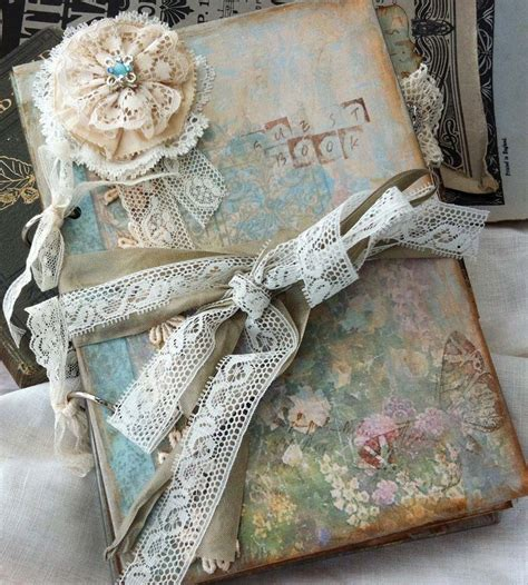 Vintage Cottage Style by Lace Wedding Guest Book Vintage Cottage Style Custom On