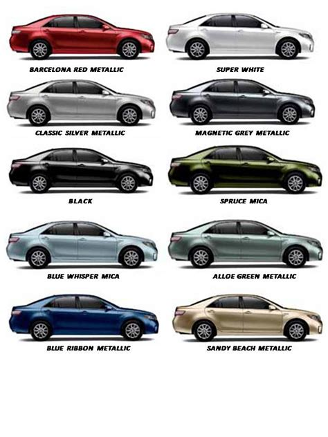 2011 toyota camry paint colors