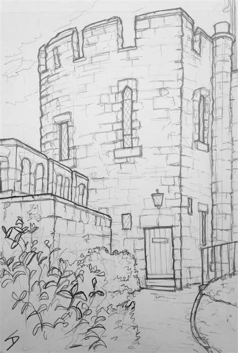 D Sketches by Sketch Shrewsbury Castle Shrewsbury View From