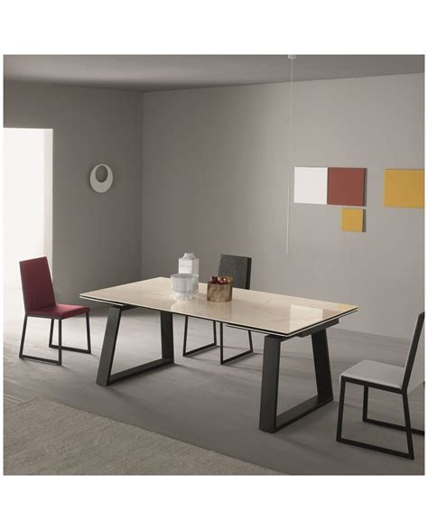 table de repas rectangulaire extensible c 233 ramique finition
