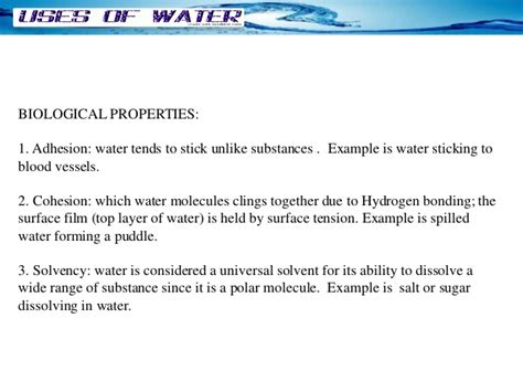 biology ch 2 2 properties of water youtube