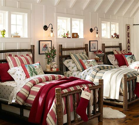 pottery barn christmas bedding the story behind our new log bed pottery barn