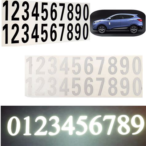 Vinyl Number Stickers number reflective sticker car vinyl decal address