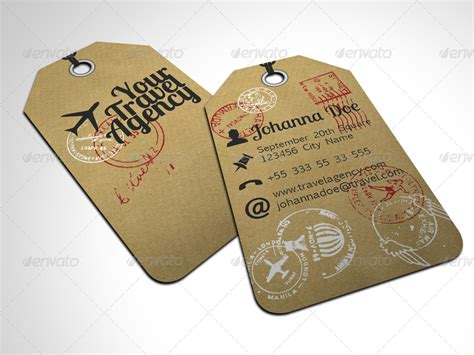card templates tags travel tag business card template by freshinkstain