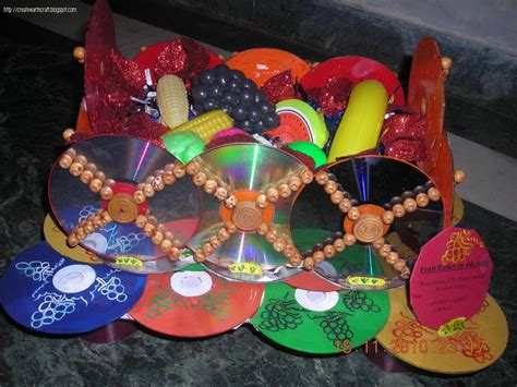 craft from waste material for anu s and crafts best out of waste fruit basket with