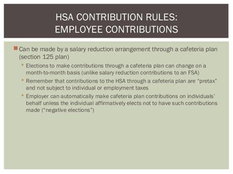 section 125 cafeteria plan rules all about hsa s