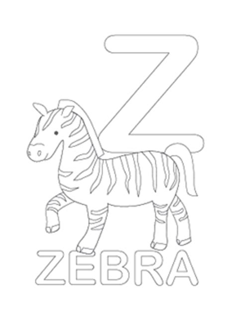 letter z coloring pages preschool alphabet letter z coloring zebra child coloring