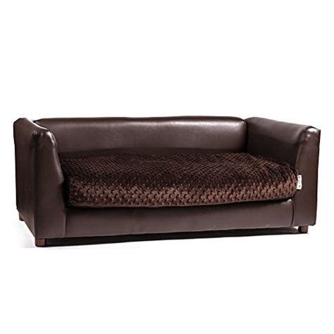 pet bed sofa keet fluffly deluxe pet bed sofa chocolate large