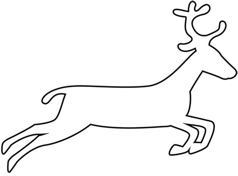 reindeer cut out template reindeer template animal templates free premium