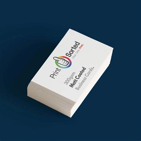 Mat Business Cards by 300gsm Matt Coated Business Cards All Your Print Sorted