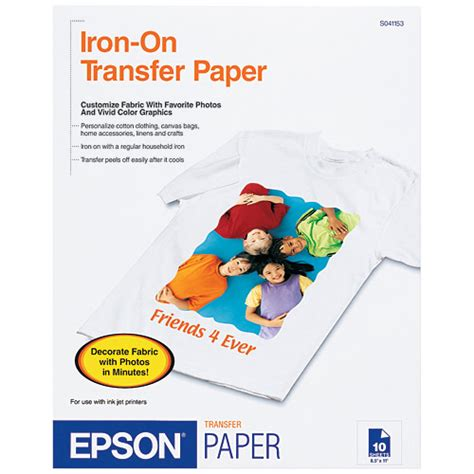 printable iron on transfer paper epson iron on cool peel transfer paper 8 5 quot x11 quot walmart com