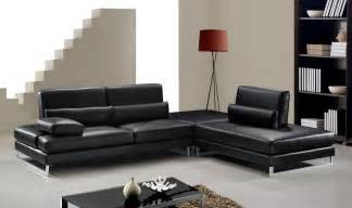 black modern sofa modern black leather sectional sofa