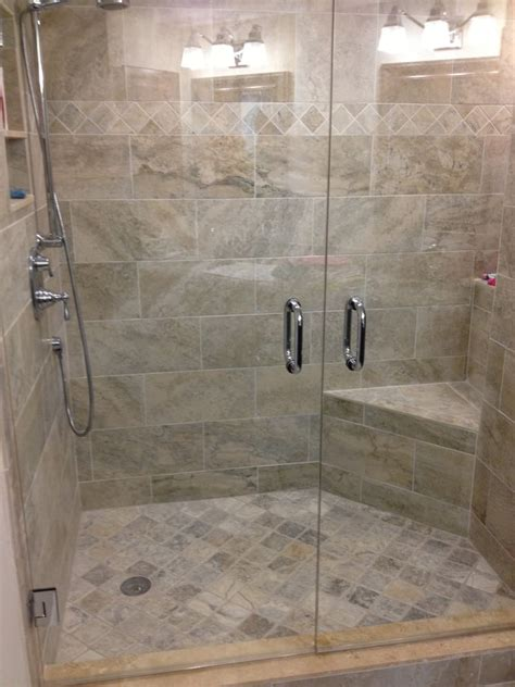 Indian Bathroom Tiles Design Pictures 12 X 24 Stagger Corner Seat And13x20 Niche With