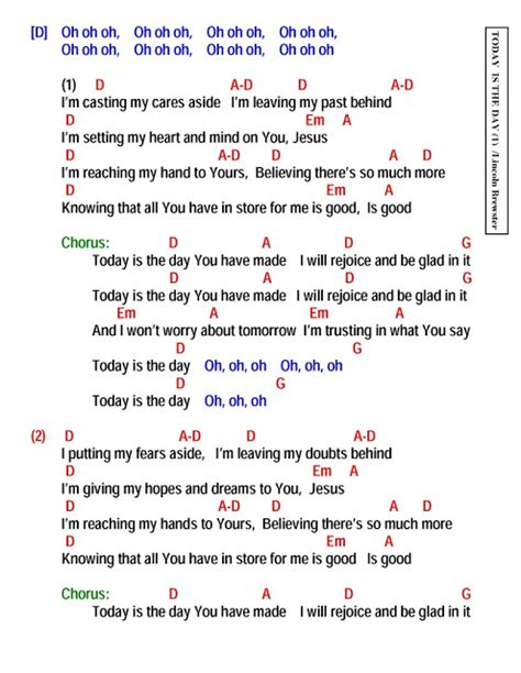 lyrics day is today is the day lyrics and chords faith and