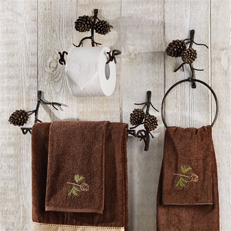 bathroom towel decor fascinating lodge bathroom decor office and bedroom