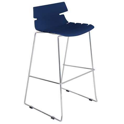 Jysk Storage Stool Navy Blue bryant modern navy blue stacking bar stool eurway