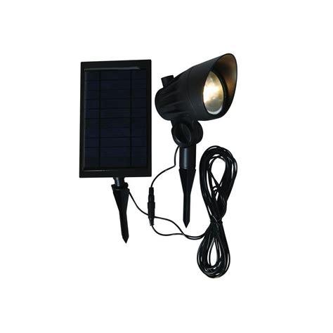 solar outdoor spot lights hton bay solar black led outdoor spotlight nxt 3149