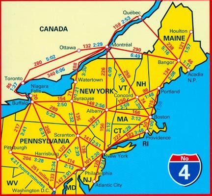 road map northeast usa new atlantic northeast usa 04 hallwag road map