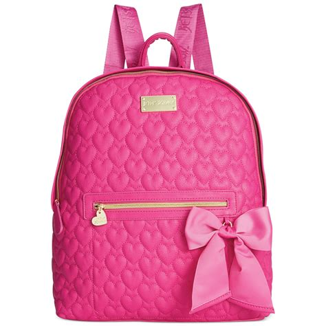 Betsey Johnson Quilted Backpack by Betsey Johnson Quilted Backpack In Pink Pink Quilted Lyst