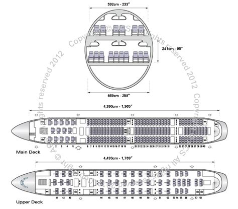 Cabin Layouts Plans airbus a380