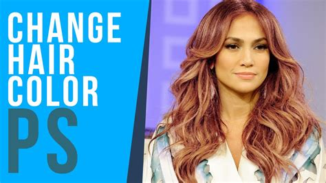 how to change hair color photoshop tutorial change hair color