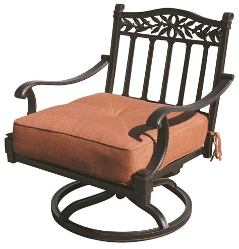 Cast Aluminum Patio Chairs Patio Furniture Cast Aluminum Seating Rocker Swivel Club Chair Charleston