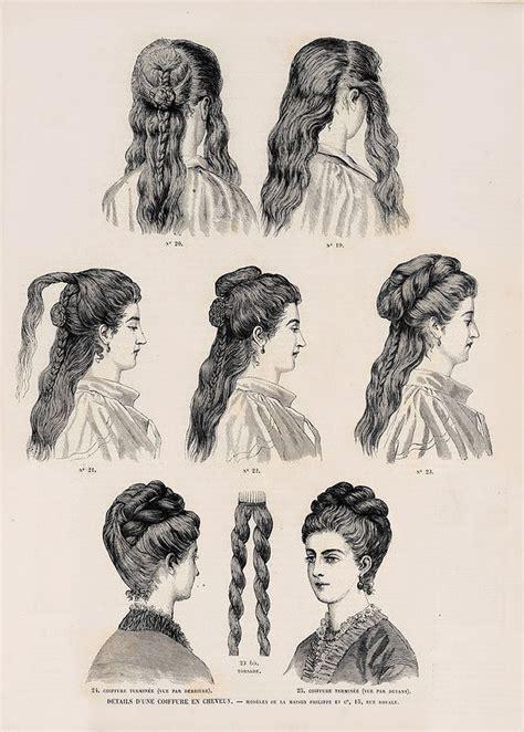 edwardian hairstyles history 1873 revue de la mode details d une coiffure en cheveux